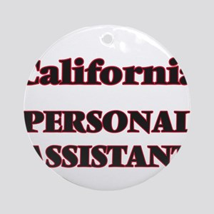 California Personal Assistant Round Ornament