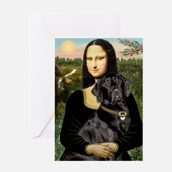Mona's Black Lab Greeting Card