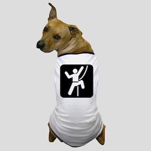 Rock Climbing Park Symbol Dog T-Shirt