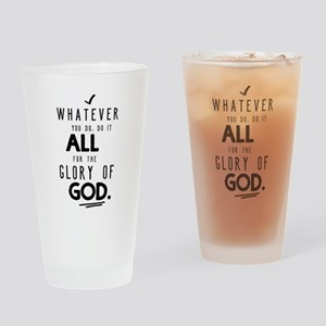 Do it All for the Glory of God Drinking Glass
