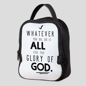 Do it All for the Glory of God Neoprene Lunch Bag