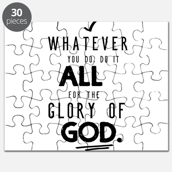 Do it All for the Glory of God Puzzle