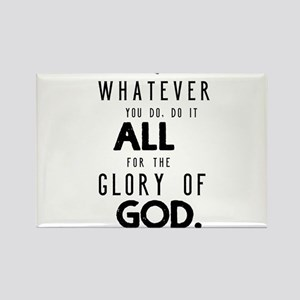 Do it All for the Glory of God Rectangle Magnet