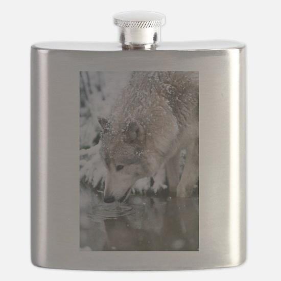 Unique Wolves Flask