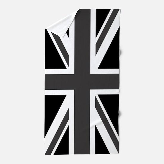 Union Jack: Black & White Beach Towel