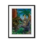 Dinosaur Framed Panel Print