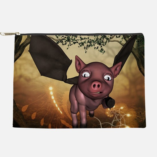 unny little piglet with wings Makeup Bag