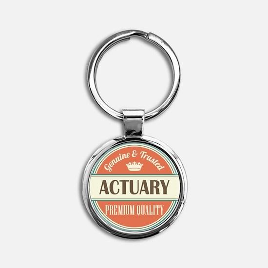 Actuary Round Keychain
