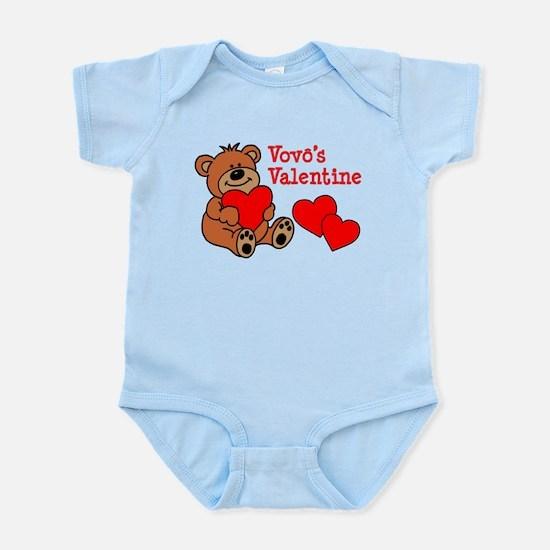 Vovo's (Grandpa) Valentine Cartoon Bear Body Suit