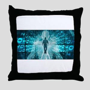 Digital Transforma Throw Pillow