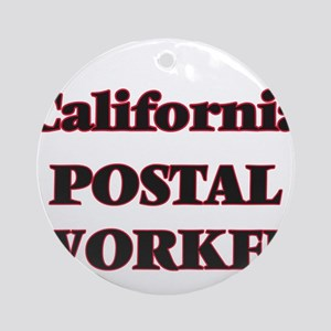 California Postal Worker Round Ornament