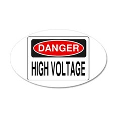 High Voltage Wall Decal