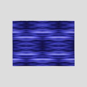modern abstract blue batik 5'x7'Area Rug