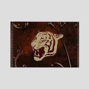 Wonderful tiger head, golden colors Magnets