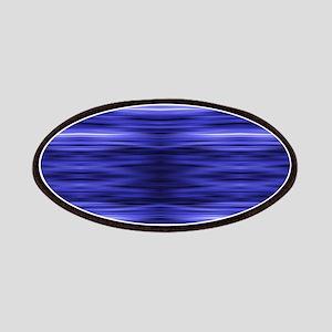 modern abstract blue batik Patch