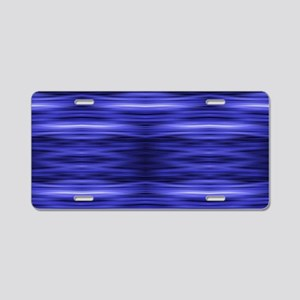 modern abstract blue batik Aluminum License Plate