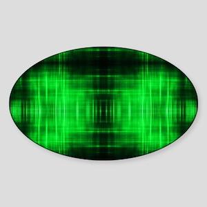 tribal neon green batik Sticker