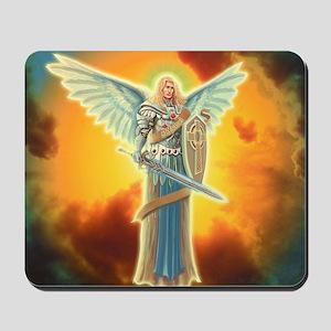 Saint Angel Michael Mousepad