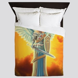 Saint Angel Michael Queen Duvet