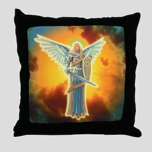 Saint Angel Michael Throw Pillow
