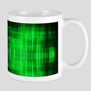 tribal neon green batik Mugs