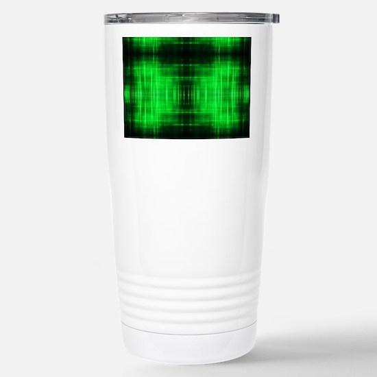 tribal neon green batik Stainless Steel Travel Mug