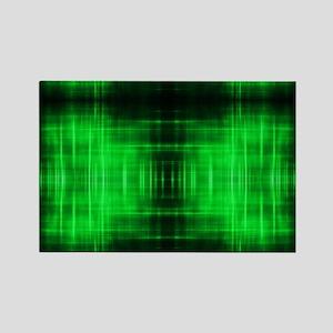 tribal neon green batik Magnets