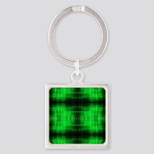 tribal neon green batik Keychains