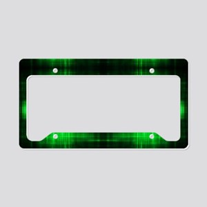 tribal neon green batik License Plate Holder