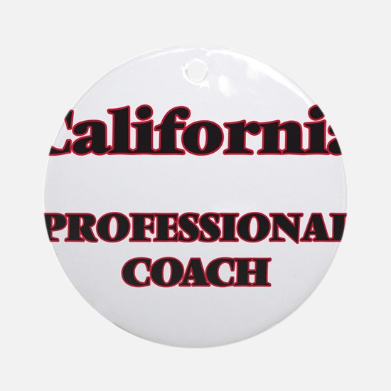 California Professional Coach Round Ornament