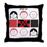 Baby Figures Throw Pillow