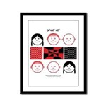 Baby Figures Framed Panel Print