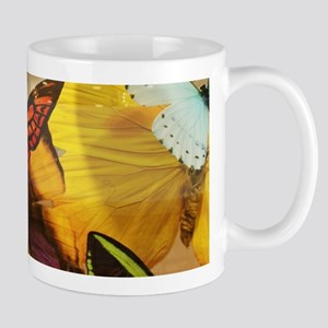 girly summer colorful butterfly Mugs