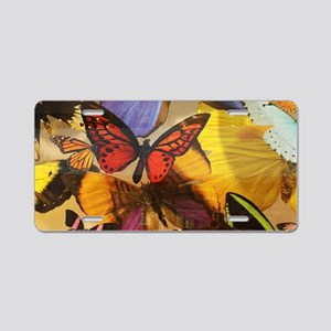 girly summer colorful butte Aluminum License Plate