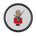 Scary Hillary Large Wall Clock