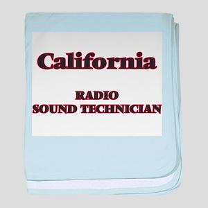 California Radio Sound Technician baby blanket
