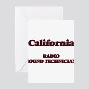 California Radio Sound Technician Greeting Cards