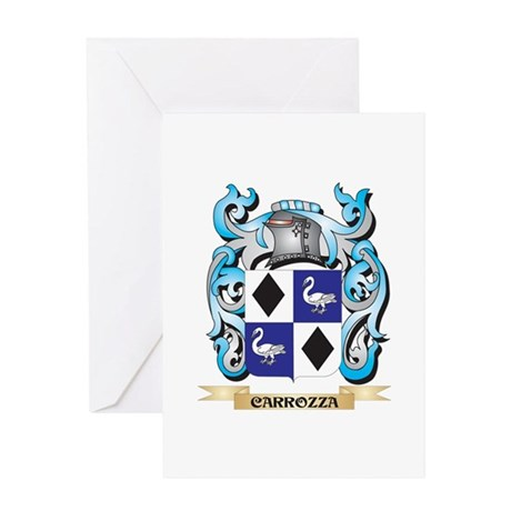Carrozza Coat of Arms - Family Cres Greeting Cards