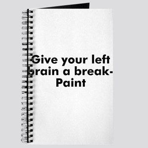 Give your left brain a break- Journal