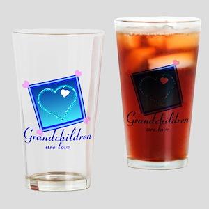 Customize Grandchildren Drinking Glass