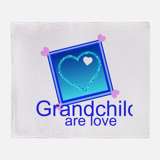 Customize Grandchildren Throw Blanket