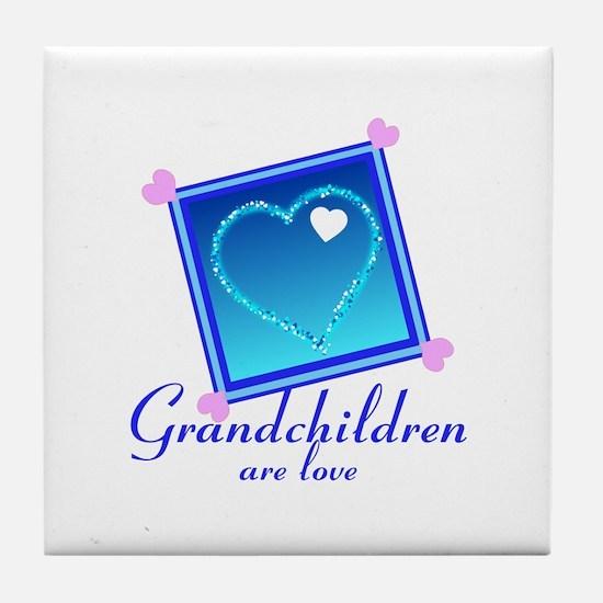 Customize Grandchildren Tile Coaster