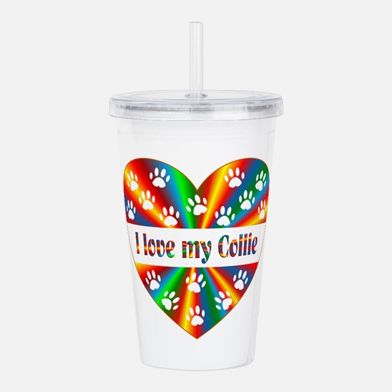 Collie Love Acrylic Double-wall Tumbler