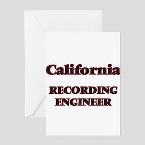 California Recording Engineer Greeting Cards