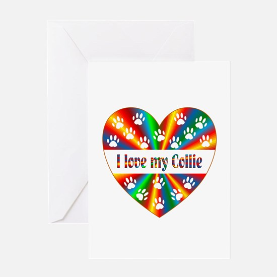Collie Love Greeting Card