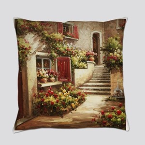 Tuscan Courtyard Everyday Pillow