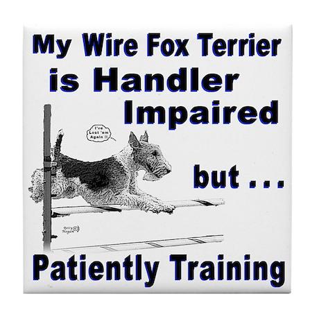 Wire Fox Terrier Agility Tile Coaster