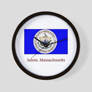 Salem MA Flag Wall Clock