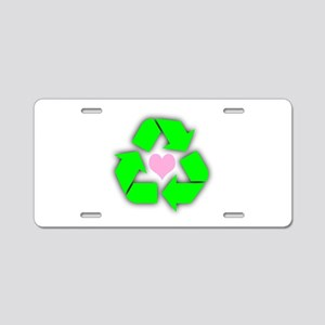 Recycled Heart Aluminum License Plate