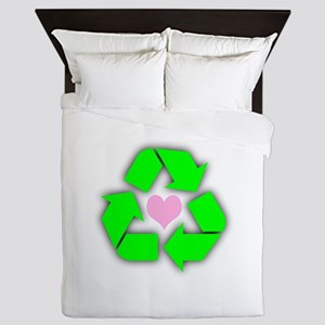 Recycled Heart Queen Duvet